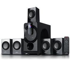 beFree Sound 5.1 Channel Surround Sound Bluetooth Speaker System in Black - Reconditioned