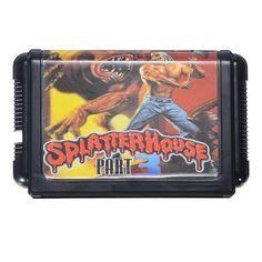 Splatter House Game Cartridge 16 bit Game Card for Sega MegaDrive Genesis PAL NTSC #segagames #oldsega #oldgames #splatterhouse #reproduction #vintagegames #PALgames #NTSCgames  | eBay