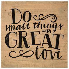 Do Small Things Wood Wall Decor