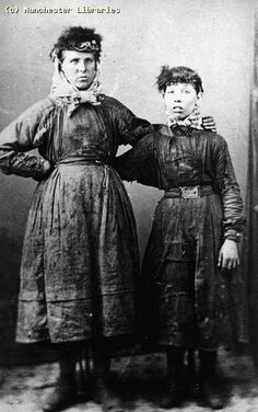 Women Coal Miners - Manchester, England - Pit Brow Lasses, 1890