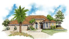 Mediterranean House Plan with 2651 Square Feet and 3 Bedrooms from Dream Home Source | House Plan Code DHSW02262