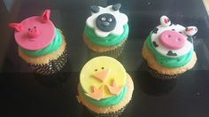 Cupcakes de la granja