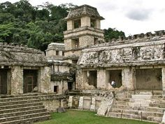 The Courtyard of the Captives. It was to this courtyard in the heart of the Palace that war captives were dragged, to be exhibited before Palenque's nobles before being sacrificed.