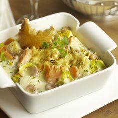 Light variant: 366 kcal per persoon Fish Recipes, Seafood Recipes, Vegetarian Recipes, Cooking Recipes, Healthy Recipes, Cooking Fish, Cooking Pork, Cooking Kale, Dutch Recipes