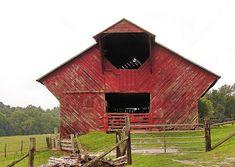 odd shaped barn by quillus, via Flickr