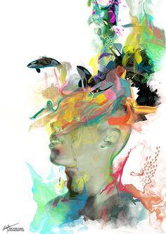 Archan Nair's Fluorescent Digital Illustrations   Hi-Fructose Magazine