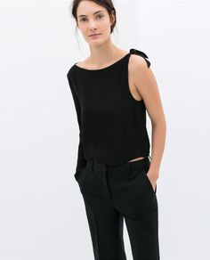 ZARA - WOMAN - ASYMMETRIC TOP WITH KNOT ON SHOULDER