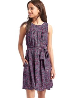 I would love a dress like this! Light and flowy with a fun pattern, and I can wear it with or without a cardigan, depending on the weather.