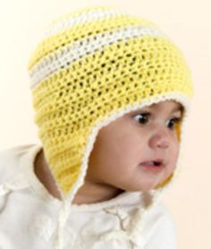Child's Crochet Earflap Hat Crochet Pattern | Red Heart, I have made several of these hats, love them!