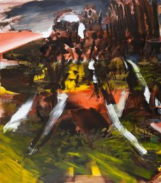 Annie Lapin, 2011.  The Glory Shapey Thing.  Oil and Acrylic on canvas. 82 1/4 x 72 inch