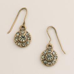 $4.99 Black Diamond Round Drop Earrings | World Market