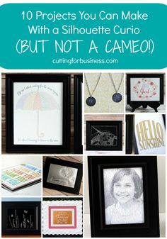 10 Projects You Can Make with a Silhouette Curio - but not a Cameo - by findingtimetocreate.com for cuttingforbusiness.com