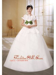 Ball Gown Strapless Neckline Organza With Olive Green Belt Wedding Dress- $210.29  http://www.fashionos.com  http://www.facebook.com/quinceaneradress.fashionos.us  The stunning, fitted bodice looks like the petal. The ruched waist part features the olive green belt. A lace up corset style closure in the back secures the dress in place. The layered organza skirt is simple and romantic. You can not miss it.