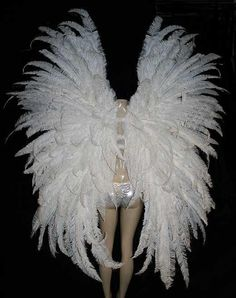 Make large feather wings with white #feathers for #carnivalcelebration
