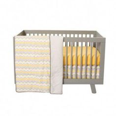 Buttercup Zigzag 3 Piece Crib Bedding Set - Fun baby bedding sets for your new little one by Trend Lab. Baby gifts including bath essentials, cute clothing and super soft blankets. Toddler Girl Bedding Sets, Baby Crib Bedding Sets, Best Bedding Sets, Cheap Bedding Sets, Crib Sets, Baby Cribs, Crib Mattress, Bedding Collections, Petite Fille