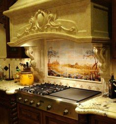 kitchens with burners and hibatchi grill   Want this stove...4 burners AND a flat top grill