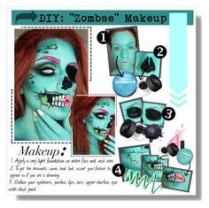 """DIY: ""Zombae"" Makeup..."" by kaykay-mara ❤ liked on Polyvore featuring NARS Cosmetics"