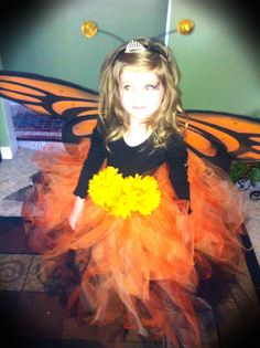 Halloween costume for Illi Hollween Costumes, Old Halloween Costumes, Hallowen Costume, Dress Up Costumes, Halloween Cosplay, Costume Ideas, Girls Butterfly Costume, Monarch Butterfly Costume, Butterfly Halloween Costume