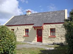 Ti Sonny - Stone-built cottage in rural townland of Cashel, County Galway. Open Fires, Cosy, Ireland, Shed, Outdoor Structures, House Styles, Cottages, Serenity, Holiday
