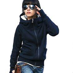 Women's Fashion Casual High Neck Hood Hoodie – EUR € 9.08