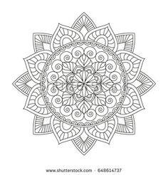 Mandala. Round Ornament Pattern. Vintage decorative