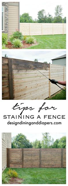 Tips For Staining A Fence