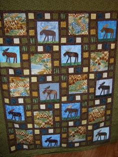 moose quilt | paper pieced moose quilt | Flickr - Photo Sharing!