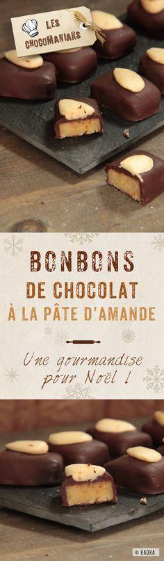 Bonbons de Chocolat à la Pâte d'Amande - une gourmandise vegan pour Noël // Recette proposée par le Blog LesChocomaniaks www.chocomaniaks.fr // Chocolat Bio Équitable ©KAOKA