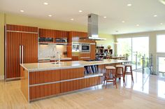 This is a really cool kitchen look for Residential Custom Homes by Novum Custom Homes.