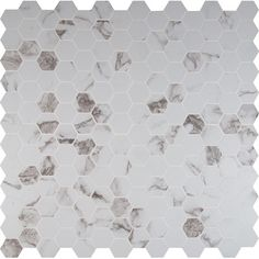 "MS International Statuario 2"" x 2"" Hexagon Porcelain Mosaic Tile in Matte"