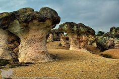Bulgaria - Rodopi mountain stones called mushrooms because of their peculiar shape.