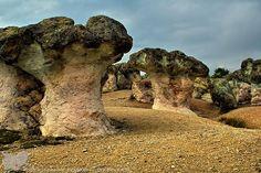 Bulgaria - mountain Rodopi, stone mushrooms