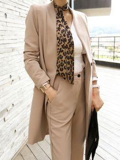 Women's Pants and Jacket Set Suit Casual Formal Work Wear Uniform Elegant for Office Business Autumn - Work Outfits Women Casual Office Wear, Stylish Office, Office Attire, Casual Wear, Office Outfits Women, Stylish Outfits, Long Jackets, Facon, Outfits
