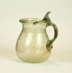 62R Roman Cup with thumb Rest Handle, Third-Fourth Century