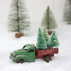 Christmas Tree Truck Decoration