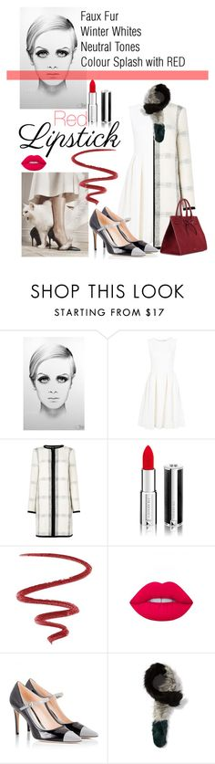 """""""Winter Wonder : RED lips"""" by charisloves ❤ liked on Polyvore featuring beauty, ADAM, L.K.Bennett, Givenchy, L'Oréal Paris, Lime Crime, Fratelli Karida, Charlotte Simone and Mansur Gavriel"""