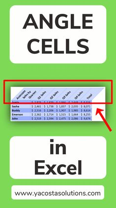 See how to Angle Cells in Excel to make your spreadsheet more visually interesting. Using diagonal headers can also look more professional. Rotate Cells in Excel. Slant Cells in Excel. Diagonal Cells in Excel. Computer Help, Computer Technology, Computer Programming, Computer Tips, Energy Technology, Technology Gadgets, Excel Tips, Excel Hacks, Excel Budget