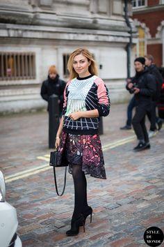 Nasiba Adilova London Fashion Week autumn winter 2014 #Streetstyle #LFW