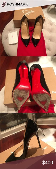 Black So Kate Christian Louboutin! Pigalle 120 Patent Calf! I worn them 4 times. Wear and tear in the red sole. Christian Louboutin Shoes Heels