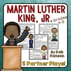 Partner Plays that are related to the life and contributions of Martin Luther King, Jr. Students work to improve reading fluency while learning about this American hero!