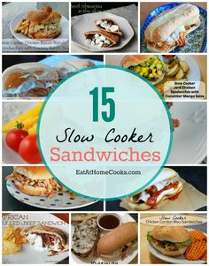 15 Slow Cooker Sandwiches