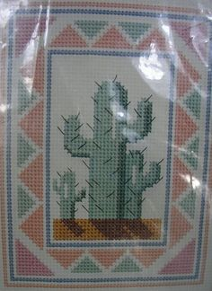 Saguaro Cactus cross stitch kit Banar Designs desert picture 14 ct aida #BanarDesigns