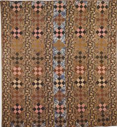 Nine-patch Strip Quilt, 1817.Classic Quilts from the American Museum in Britain.
