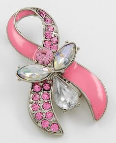 Pink Ribbon Brooch Jewelry at Posh By Tori Boutique. Check out our store on YouTube! https://www.youtube.com/watch?v=kpzTlDVy16k  - If you're not in MI and would like to order, send us an email or contact us through facebook: http://www.facebook.com/poshbytori