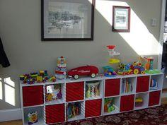 playroom bookshelf idea