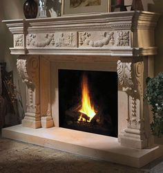 Choose from our large selection of designer cast stone fireplace mantel shelves, legs, and finishes. Easy to customize mantels to fit your home design. Stone Fireplace Mantles, Marble Fireplace Mantel, Stone Fireplace Surround, Marble Fireplaces, Fireplace Design, Stone Fireplaces, Fire Surround, Fireplace Ideas, Classic Fireplace