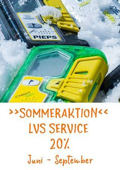 SOMMERAKTION LVS SERVICE | Avalanche Training Center ATC Training Center, Juni, Atc, Nerf, September