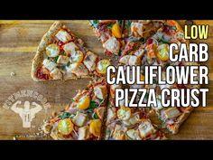 How to Make Low-Carb Cauliflower Pizza Crust / Corteza de Pizza Hecha de Coliflor - YouTube