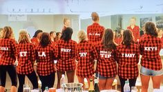 bridal party matching flannel shirts  |  from Maci Bookout's wedding on as seen on Teen Mom OG