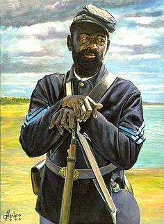 Buffalo Soldiers - Gullah Art, African American Art by John Jones at Gallery Chuma, Charleston, SC